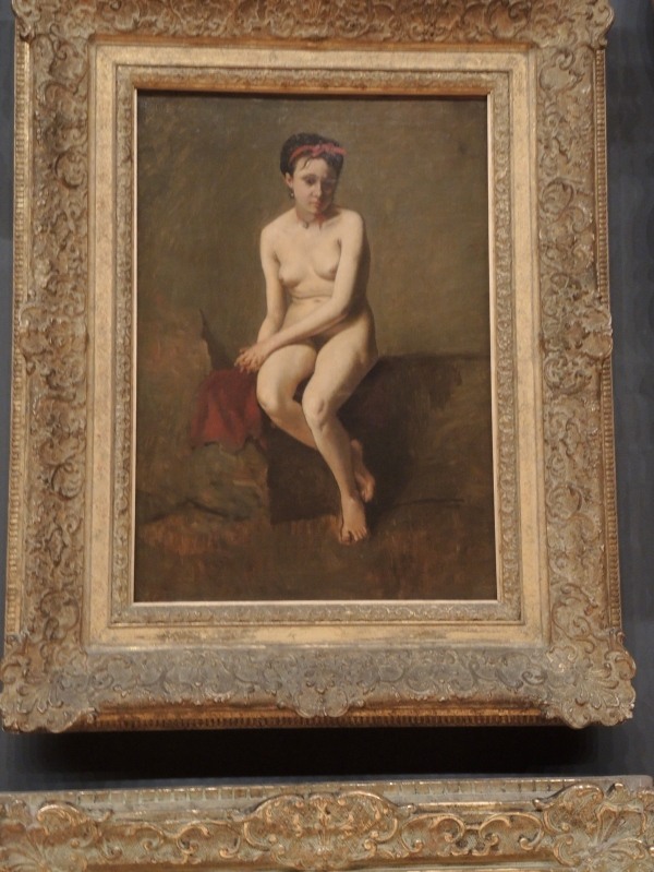 Camille COROT (manner of)     -     The model, nude study (late 19th century)