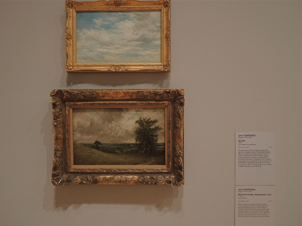 JOHN CONSTABLE    -     CLOUDS                                             JOHN CONSTABLE    -     WEST END FIELDS HAMPSTEAD, NOON