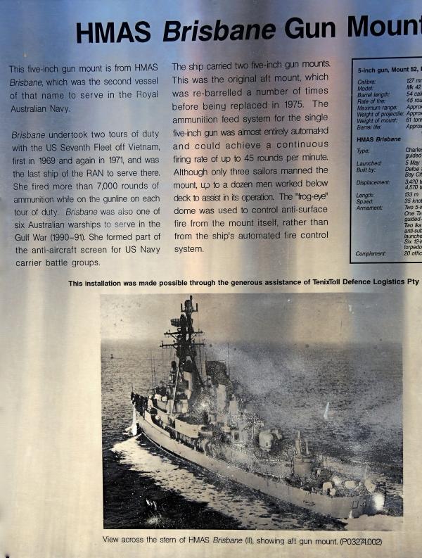 HMAS BRISBANE GUN MOUNT