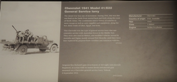 CHEVROLET 1941 MODE; 41/E22 GENERAL SERVICE LORRY