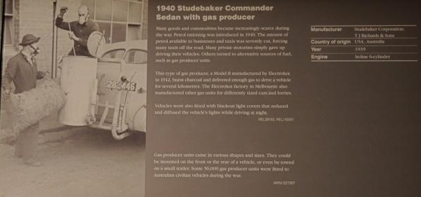 1940 STUDEBAKER COMMANDER SEDAN WITH GAS PRODUCER