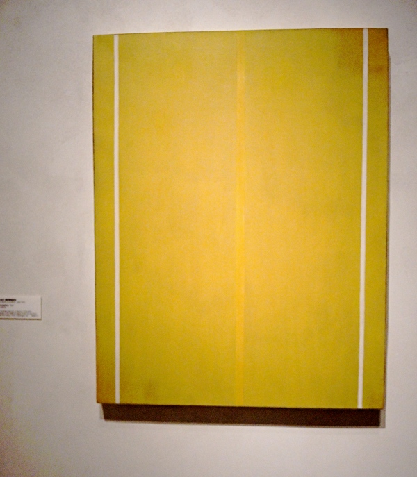BARNETT NEWMAN  -  YELLOW PAINTING  1949