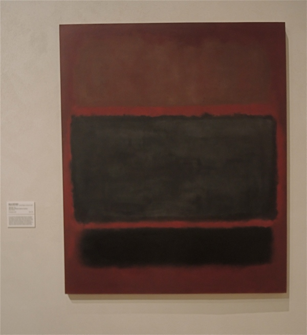 MARK ROTHKO   -    1957 # 20 [Black,brown on maroon' or 'Deep red and black' are alternative titles']