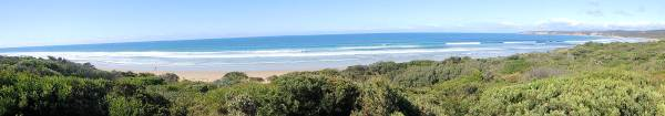 PANORAMA VIEW ALONG THE GREAT OCEAN ROAD