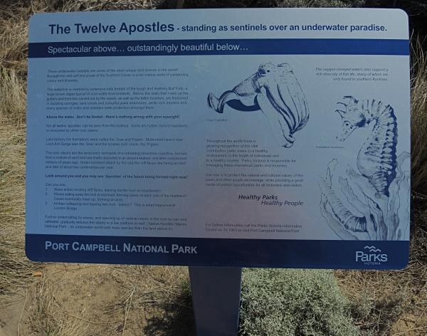 THE TWELVE APOSTLES  PLAQUE