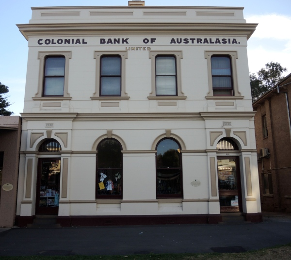 COLONIAL BANK  OF AUSTRALASIA