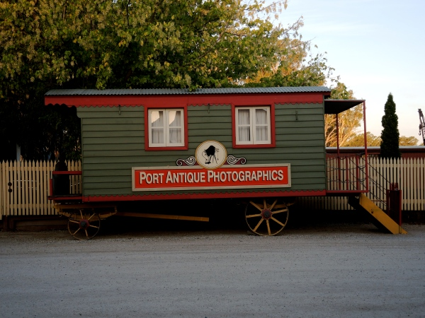 PORT ANTIQUE PHOTOGRAPHICS    -    authentically recreated travelling photographer's wagon.