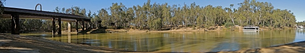 MURRAY RIVER ECHUCA (PANORAMA)