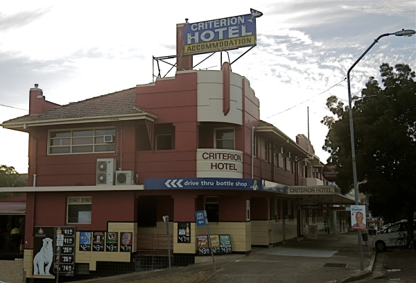 "CRITERION HOTEL -  The hotel features original oil painted murals of early Australian bushrangers and the great flood of 1852 that washed away ""Old"" Gundagai."