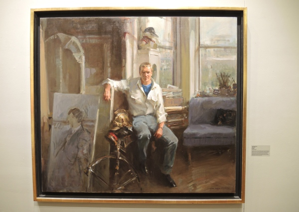 EVERETT RAYMOND KINSTLER: PETER COX, 1983,OIL ON CANVAS, 18 1/4 X 24 1/4 INCHES