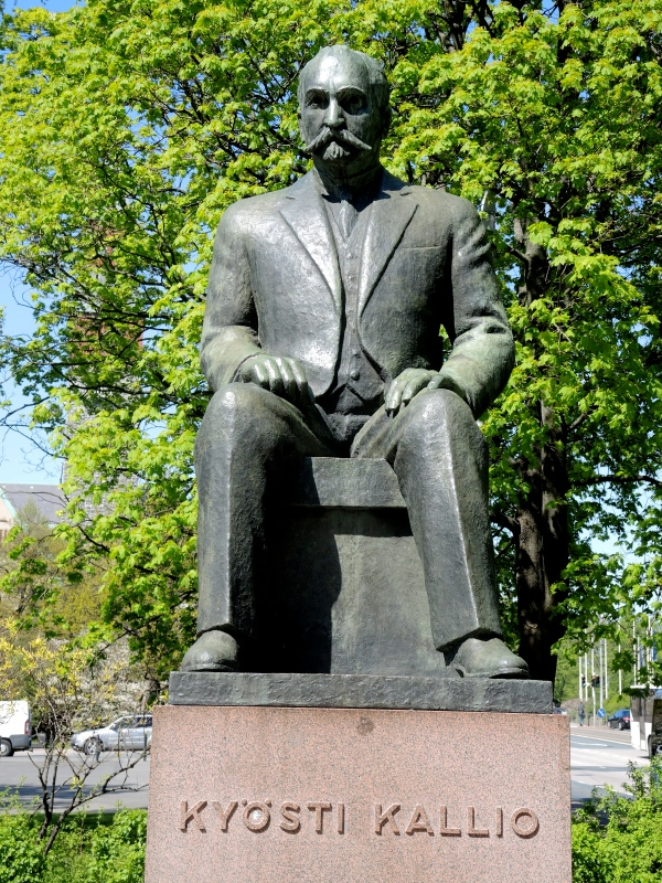 KYOSTI KALLIO - Kyösti Kallio was the fourth President of Finland. He was a prominent leader of the Agrarian League, and served as Prime Minister four times and Speaker of the Parliament six times