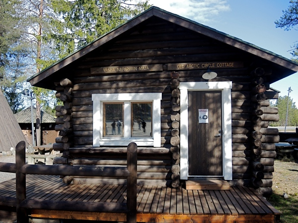 AN OLD ARCTIC CIRCLE COTTAGE AT THE SANTA CLAUS VILLAGE