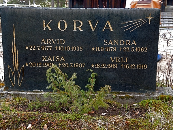 SODANKYLA OLD CHURCH HEADSTONE