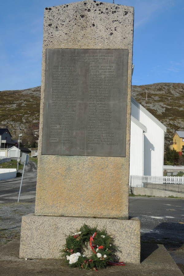 HONNINGSVAG CHURCH MEMORIAL TO THE SECOND WORLD WAR FALLEN