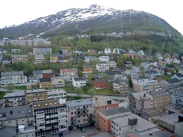 NARVIK AS SEEN FROM THE TOP OF THE STANDIC HOTEL