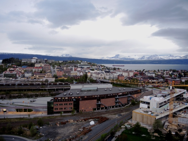 NARVIK AS SEEN FROM THE TOP OF THE STANDIC HOTEL (WESTERN VIEW)