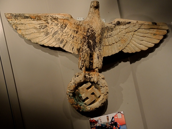 THE NORDLAND RED CROSS WAR MEMORIAL MUSEUM - Divers retrieved this bronze eagle in 2011 from the wreck of a German destroyer.