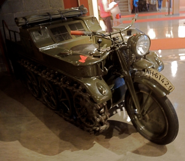 THE NORDLAND RED CROSS WAR MEMORIAL MUSEUM - WW2 German tracked motorcycle