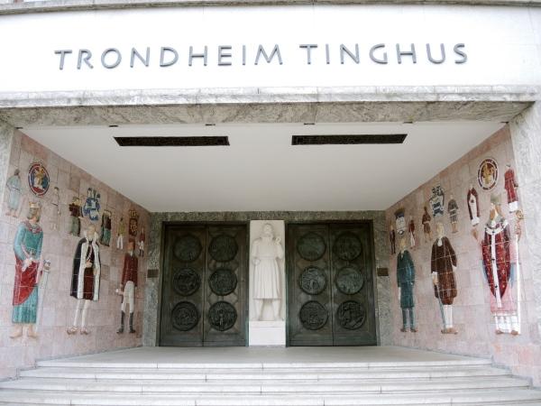TRONDHEIM COURTHOUSE---Entrance to Trondheim Tinghus, the town courthouse