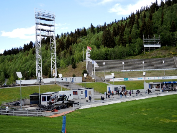 LILLEHAMMER STANDS AT THE SKI JUMP