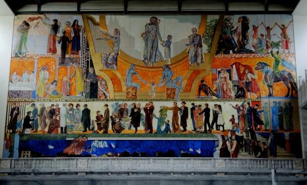 TOWN HALL, OSLO - MURAL BY HENRIK SORENSEN (DETAIL)