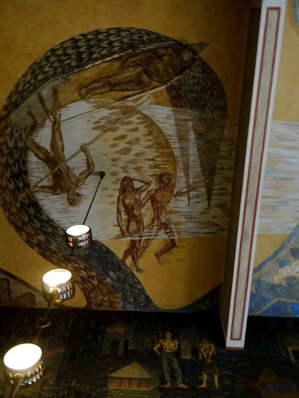 TOWN HALL, OSLO - PAINTING ON THE CEILING